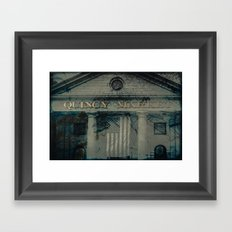 Quincy Market - Boston USA - TRAVEL Framed Art Print