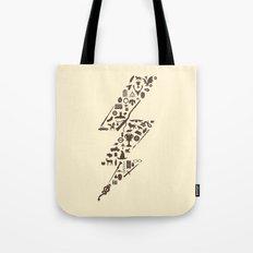 Lightning never strikes twice  Tote Bag