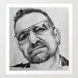 Bono Pen Sketch Art Print