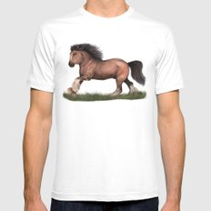 Gypsy Vanner Horse MEDIUM Mens Fitted Tee White