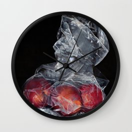 Plums in a Bag Wall Clock