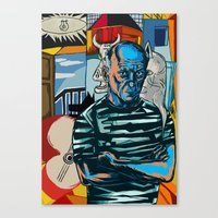 pablo picasso Canvas Prints featuring Picasso by Nicolae Negura