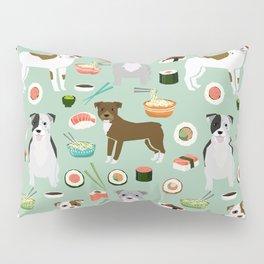 Pitbull sushi dog breed pet pattern pibble dog mom Pillow Sham