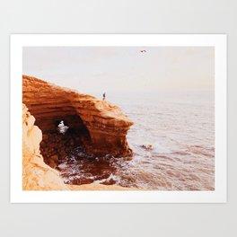 Afternoon Sunset Cliffs Art Print
