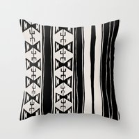 cleveland Throw Pillows featuring Cleveland 6 by Little Brave Heart Shop