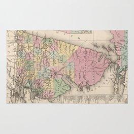 Vintage Map of Michigan (1836) Rug