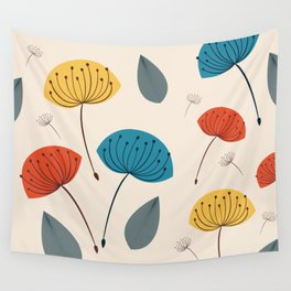Dandelions in the wind Wall Tapestry