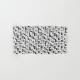 Hexagonal Columns in Grey Hand & Bath Towel