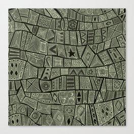 ESHE charcoal mono Canvas Print