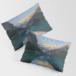 Lake Louise Sunrise Reflection Canadian Rockies Banff National Park Landscape  Pillow Sham