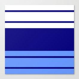 TEAM COLORS 9.... Light blue , navy Canvas Print