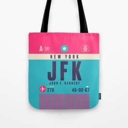 Retro Airline Luggage Tag - JFK New York Tote Bag