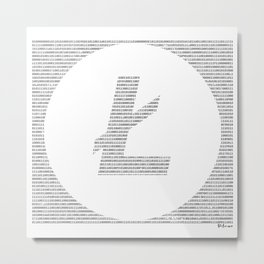 Binary Litecoin Metal Print