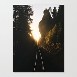 Sunset Train In Southern Oregon Canvas Print