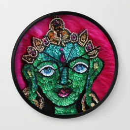 Bodhisattva of Compassion Green Tara Wall Clock