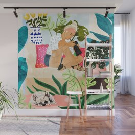 Miss Blogger Wall Mural