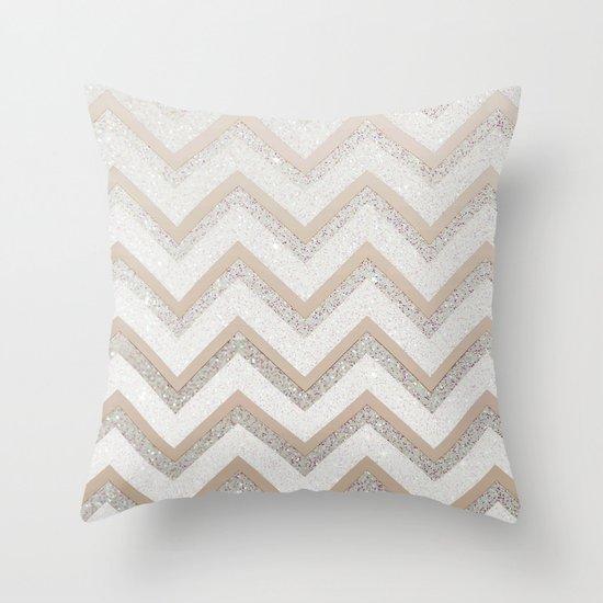 NUDE CHEVRON Throw Pillow