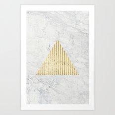 Trian Gold Art Print