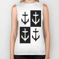 anchors Biker Tanks featuring Anchors Aweigh by floridagurl