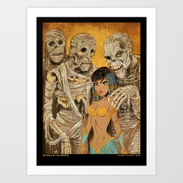 Mistress of the Mummies Art Print