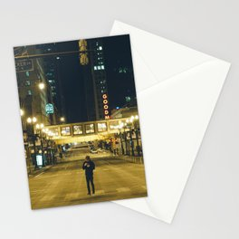 Chicago at 4 in the morning Stationery Cards