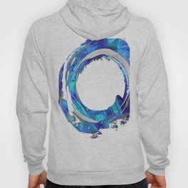 Blue And White Abstract Art - Swirling 1 - Sharon Cummings Hoody