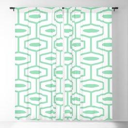 Geometric Ogee Pattern 151 Mint Green Blackout Curtain