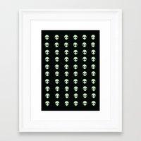 aliens Framed Art Prints featuring Aliens  by gracekansai