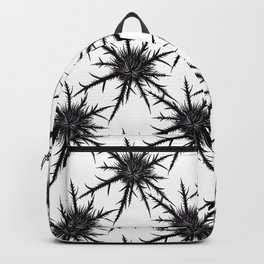 Dry Thistle With Sharp Thorns Botanical Art Backpack