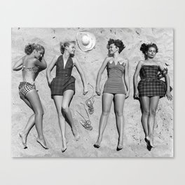 4 Girls Sunbathing Canvas Print
