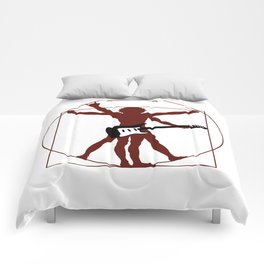DaVinci's vitruvian man ready to rock Comforters