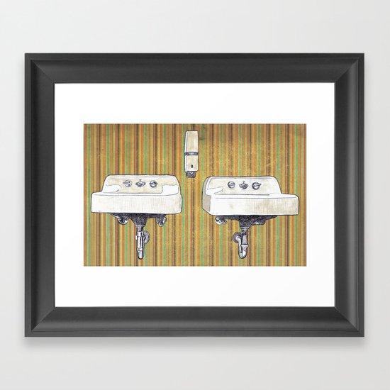 Sinks Framed Art Print