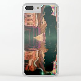 the future is flooding Clear iPhone Case