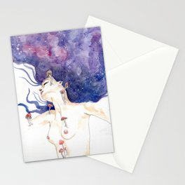Fungus girl Stationery Cards