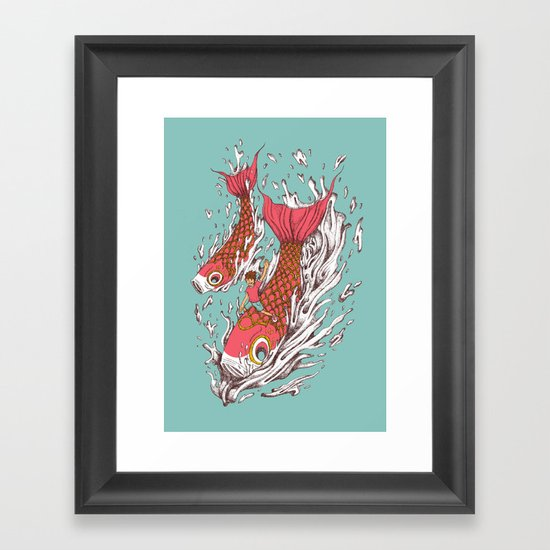 Ride with Koi Framed Art Print