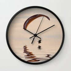 Powered paraglider Wall Clock