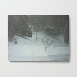 Dell Sledding Metal Print