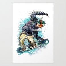 Snow board Art Print