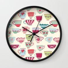 China Teacups Wall Clock