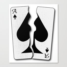 Torn Playing Card Canvas Print