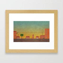 Hometown Scene Framed Art Print