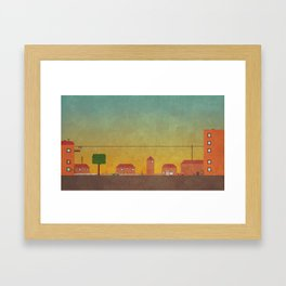 Hometown Scene Framed Art Print