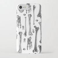 bones iPhone & iPod Cases featuring Bones by Deborah Panesar Illustration
