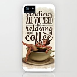 Coffee Lady iPhone Case