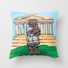 Greek Cat Throw Pillow