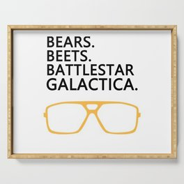 Bears,Beets,Battlestar Galactica Serving Tray