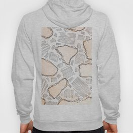 Abstract watercolor in modern style with marble lines.No.82 Hoody