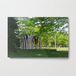 Small Park with Arches Metal Print