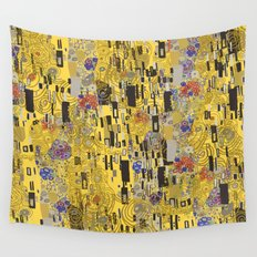 Gold Explosion Wall Tapestry