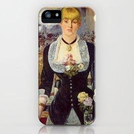 Edouard Manet - Bar w Folies Bergere iPhone Case